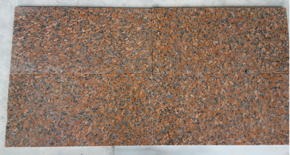 Maple Red flamed Granite Tiles