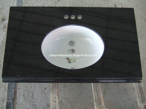 China Black Granite Vanity Top for Bathroom