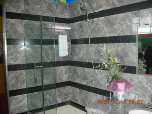 Natural Light Grey Marble Bathroom Floor or Wall