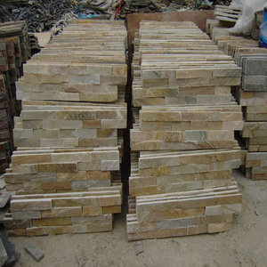 Yellow Granite Natural Stone Culture Slate for Roofing