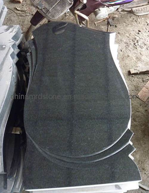 Mongolia Black Granite Upright Monument for Russian or Ukraine