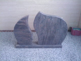 New Design Vizag Blue Granite Tombstone for Germany