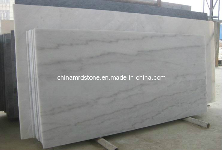 Precut Polished Guangxi White Marble Slab for Bathroom Countertop
