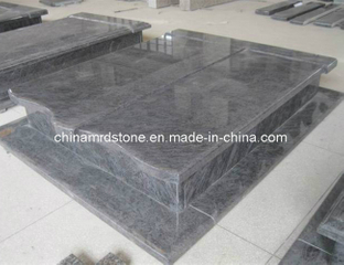 Orion / Vizag Blue European Style Granite Double Tombstone