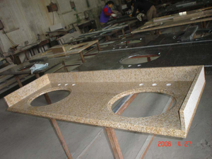 G682 Yellow Rock Granite Vanitytop