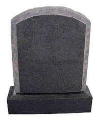 Cheap G654 Sesame Black American Style Granite Tombstone