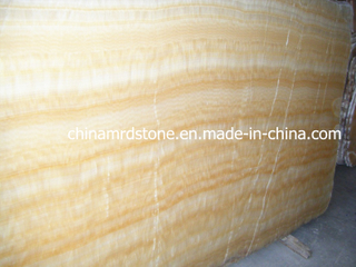 China Yellow Onxy Marble Slab