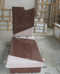 Red Granite Tombstone/ Granite Monument (MRD 036)