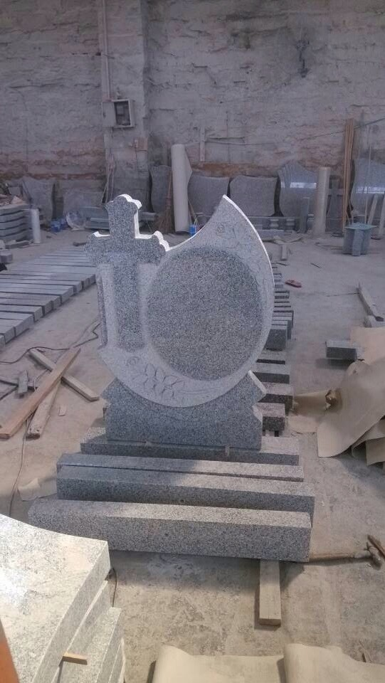 Grey Granite G603 Cross Monument