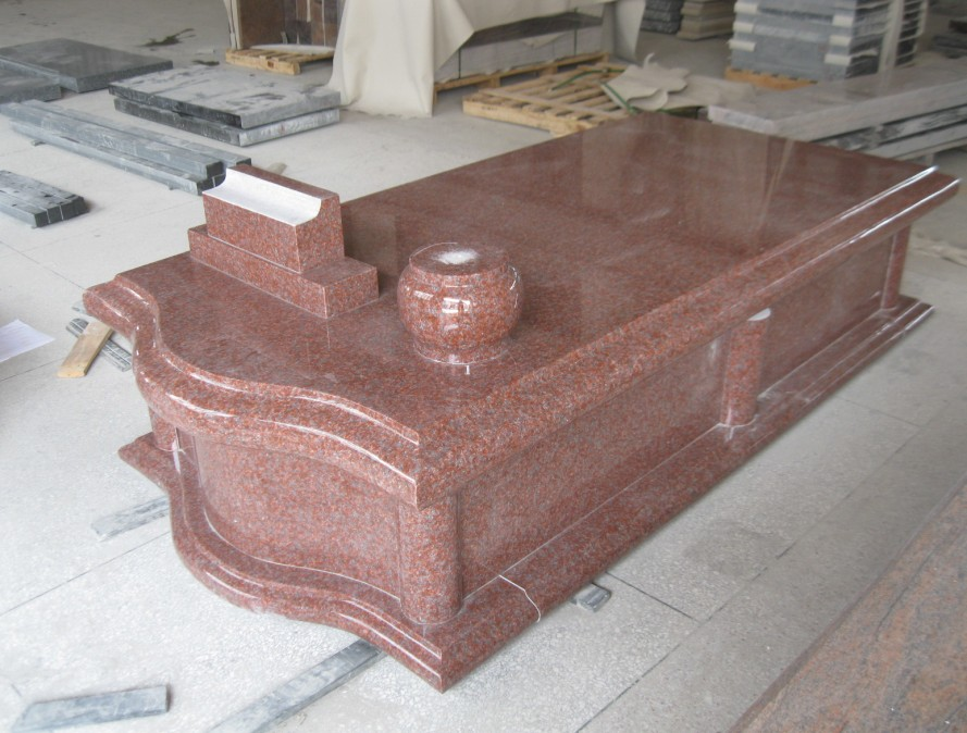Imperial Red European Style Granite Tombstone / Headstone