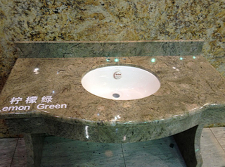 Lemon Green Vanity Top