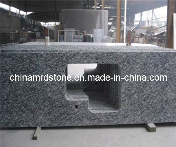 Spray White Granite Slab for Countertop or Worktop