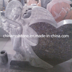 Butterfly Blue Granite Headstone for USA Market
