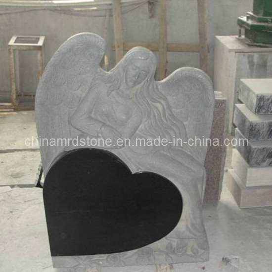 Low Price Angle Monument with Single Heart Shape