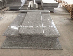 G623 Rosa Beta Granite Double Tombstone and Monument