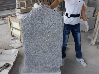 Grey Granite G603 Headstone Monument