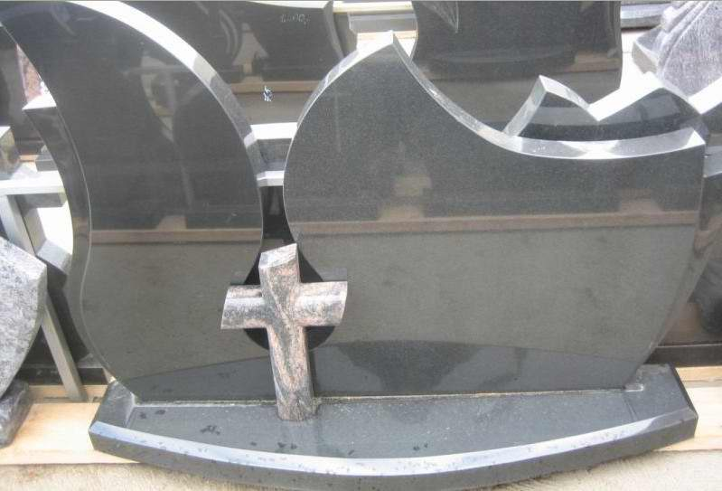 Black Granite Headstone with Powerful Price