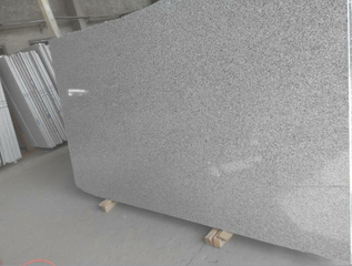 China Light Grey Granite Slab (G603/ Bianco Crystal)