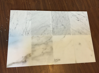 Carrala white and Calacata white marble tile